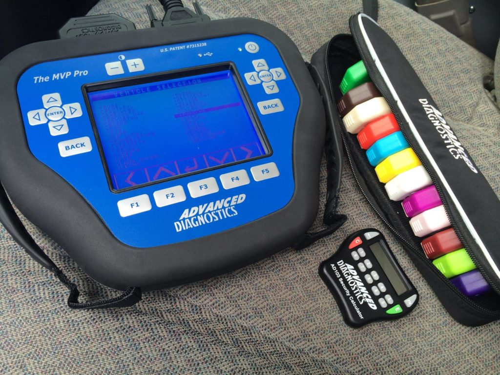 image of an MVP Pro Transponder Key programmer