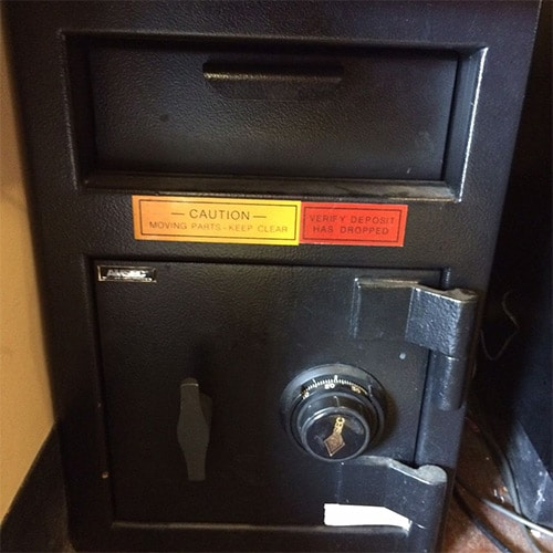 image of an AMSEC drop safe